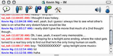 Tai and Kev talking about AI over MSN